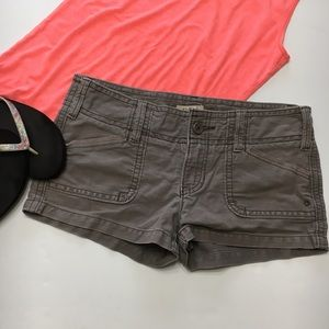 "Hollister Brown Shorts, Cotton, 2"" inseam, sz 3"
